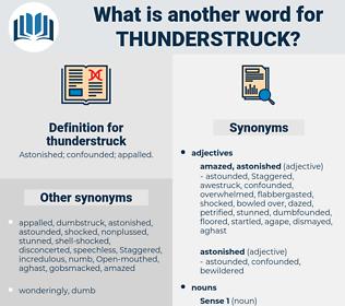 thunderstruck, synonym thunderstruck, another word for thunderstruck, words like thunderstruck, thesaurus thunderstruck