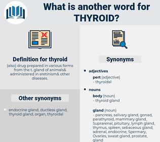 thyroid, synonym thyroid, another word for thyroid, words like thyroid, thesaurus thyroid