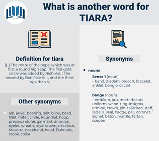tiara, synonym tiara, another word for tiara, words like tiara, thesaurus tiara