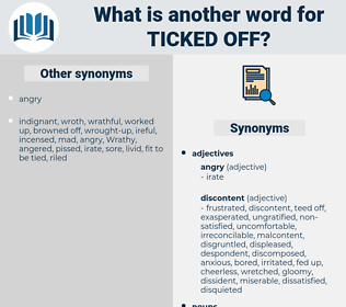 ticked off, synonym ticked off, another word for ticked off, words like ticked off, thesaurus ticked off