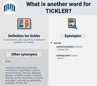 tickler, synonym tickler, another word for tickler, words like tickler, thesaurus tickler