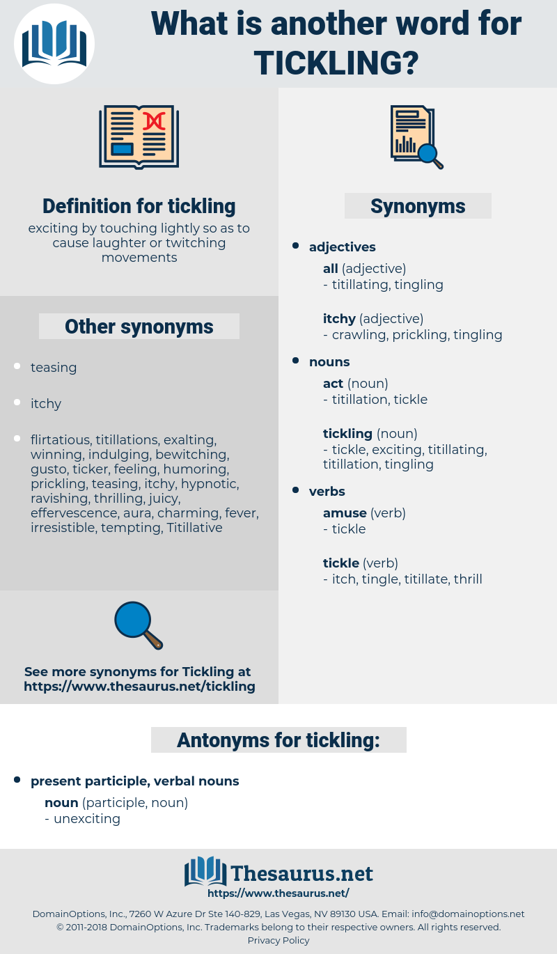 tickling, synonym tickling, another word for tickling, words like tickling, thesaurus tickling