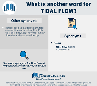 tidal flow, synonym tidal flow, another word for tidal flow, words like tidal flow, thesaurus tidal flow