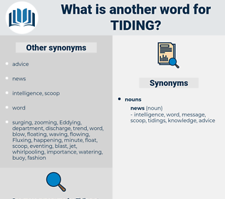 Tiding, synonym Tiding, another word for Tiding, words like Tiding, thesaurus Tiding