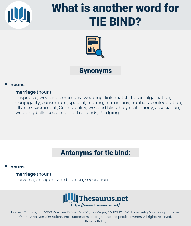tie bind, synonym tie bind, another word for tie bind, words like tie bind, thesaurus tie bind