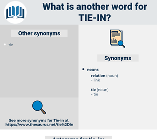tie-in, synonym tie-in, another word for tie-in, words like tie-in, thesaurus tie-in