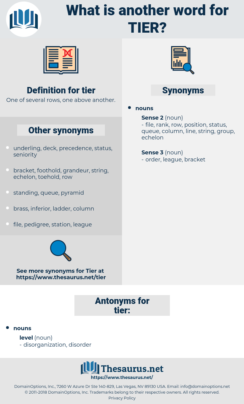 tier, synonym tier, another word for tier, words like tier, thesaurus tier