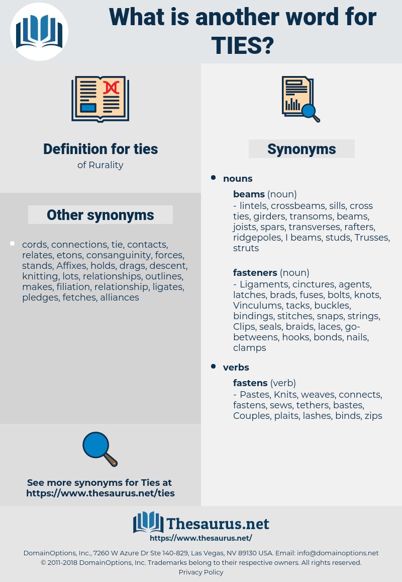 ties, synonym ties, another word for ties, words like ties, thesaurus ties