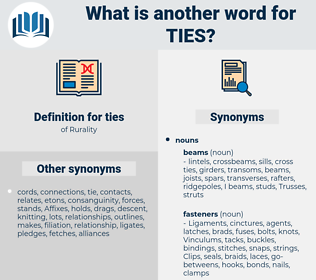 ties, synonym ties, another word for ties, words like ties, thesaurus ties
