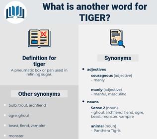 tiger, synonym tiger, another word for tiger, words like tiger, thesaurus tiger