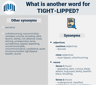 tight-lipped, synonym tight-lipped, another word for tight-lipped, words like tight-lipped, thesaurus tight-lipped