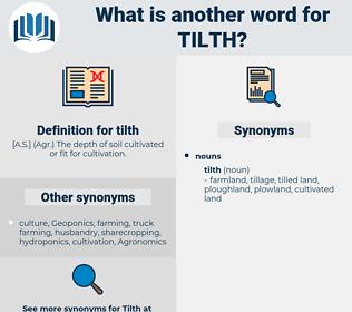 tilth, synonym tilth, another word for tilth, words like tilth, thesaurus tilth