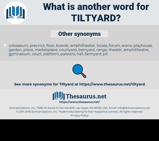 tiltyard, synonym tiltyard, another word for tiltyard, words like tiltyard, thesaurus tiltyard