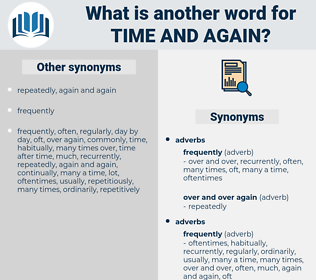 time and again, synonym time and again, another word for time and again, words like time and again, thesaurus time and again