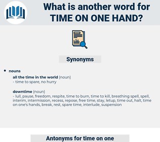 time on one hand, synonym time on one hand, another word for time on one hand, words like time on one hand, thesaurus time on one hand