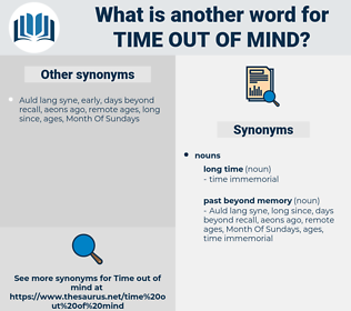 time out of mind, synonym time out of mind, another word for time out of mind, words like time out of mind, thesaurus time out of mind