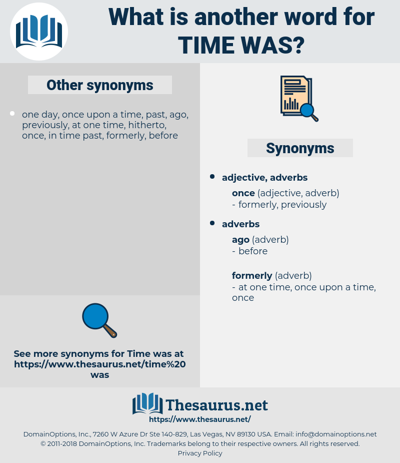 time was, synonym time was, another word for time was, words like time was, thesaurus time was