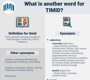 timid, synonym timid, another word for timid, words like timid, thesaurus timid