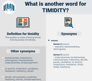 timidity, synonym timidity, another word for timidity, words like timidity, thesaurus timidity