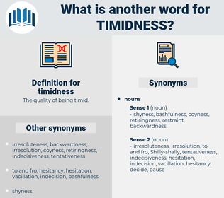 timidness, synonym timidness, another word for timidness, words like timidness, thesaurus timidness