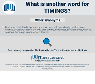 timings, synonym timings, another word for timings, words like timings, thesaurus timings