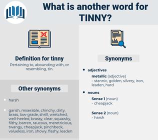 tinny, synonym tinny, another word for tinny, words like tinny, thesaurus tinny