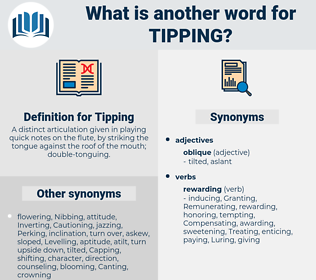 Tipping, synonym Tipping, another word for Tipping, words like Tipping, thesaurus Tipping