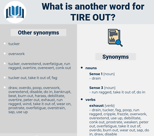 tire out, synonym tire out, another word for tire out, words like tire out, thesaurus tire out