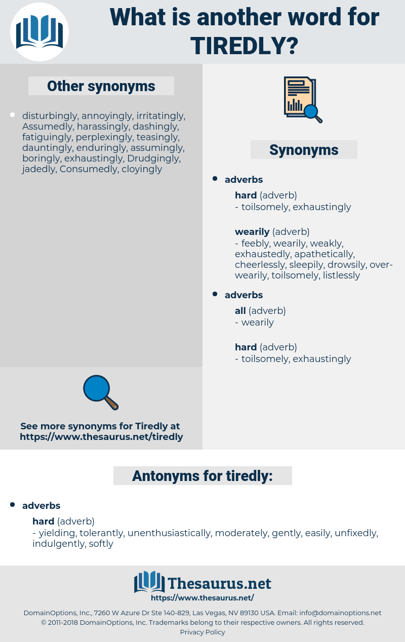 tiredly, synonym tiredly, another word for tiredly, words like tiredly, thesaurus tiredly