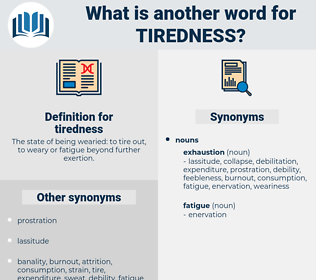 tiredness, synonym tiredness, another word for tiredness, words like tiredness, thesaurus tiredness