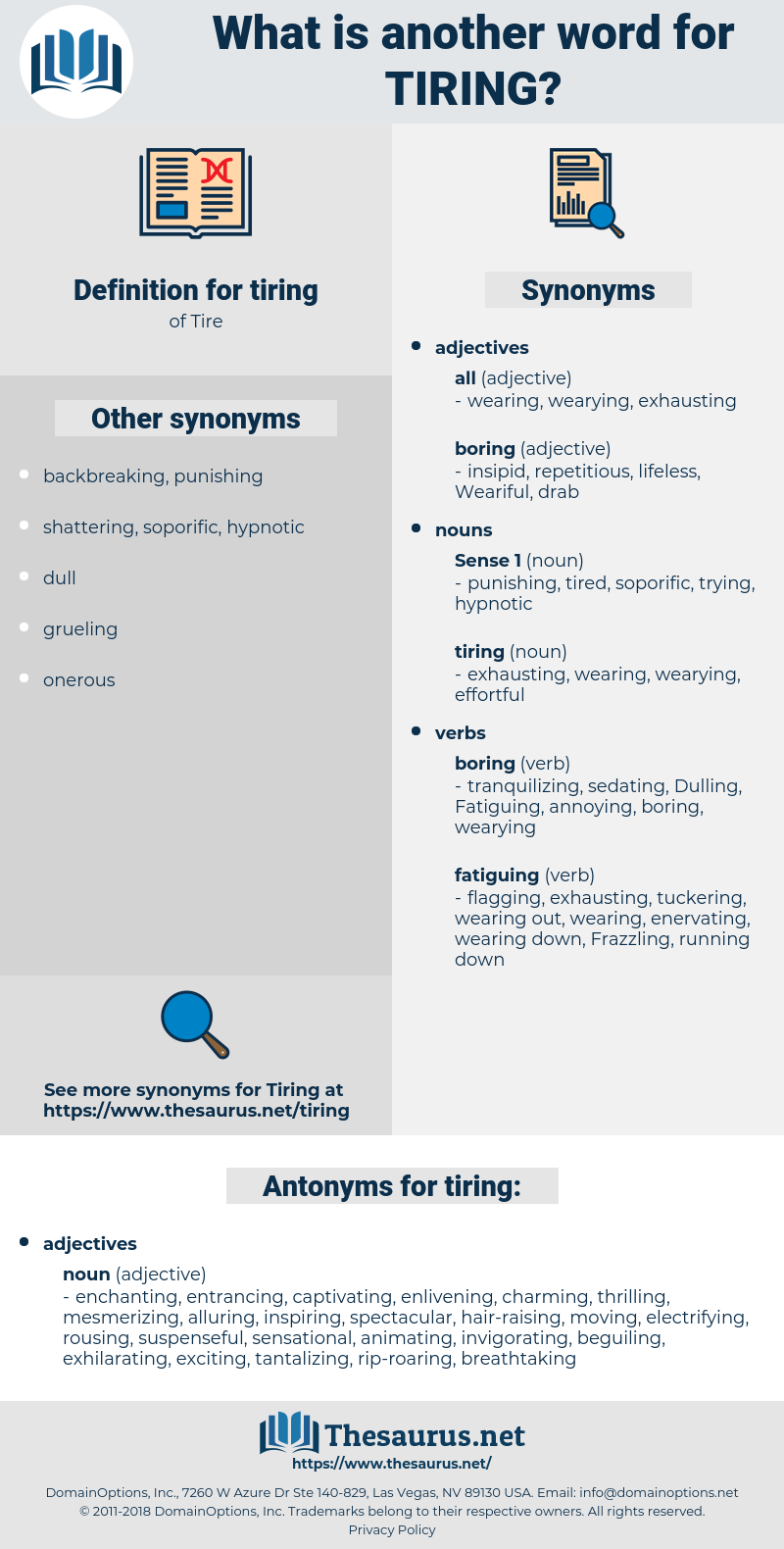 tiring, synonym tiring, another word for tiring, words like tiring, thesaurus tiring