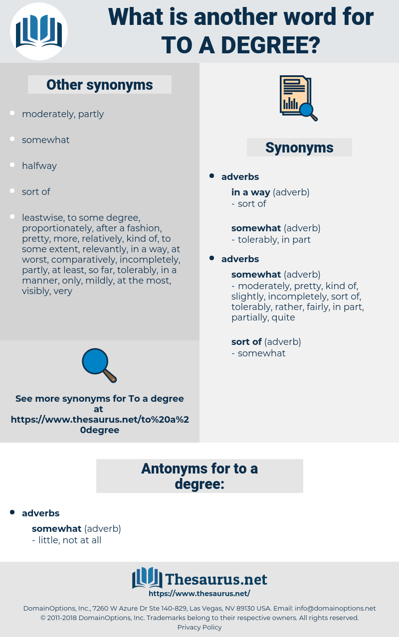 to a degree, synonym to a degree, another word for to a degree, words like to a degree, thesaurus to a degree