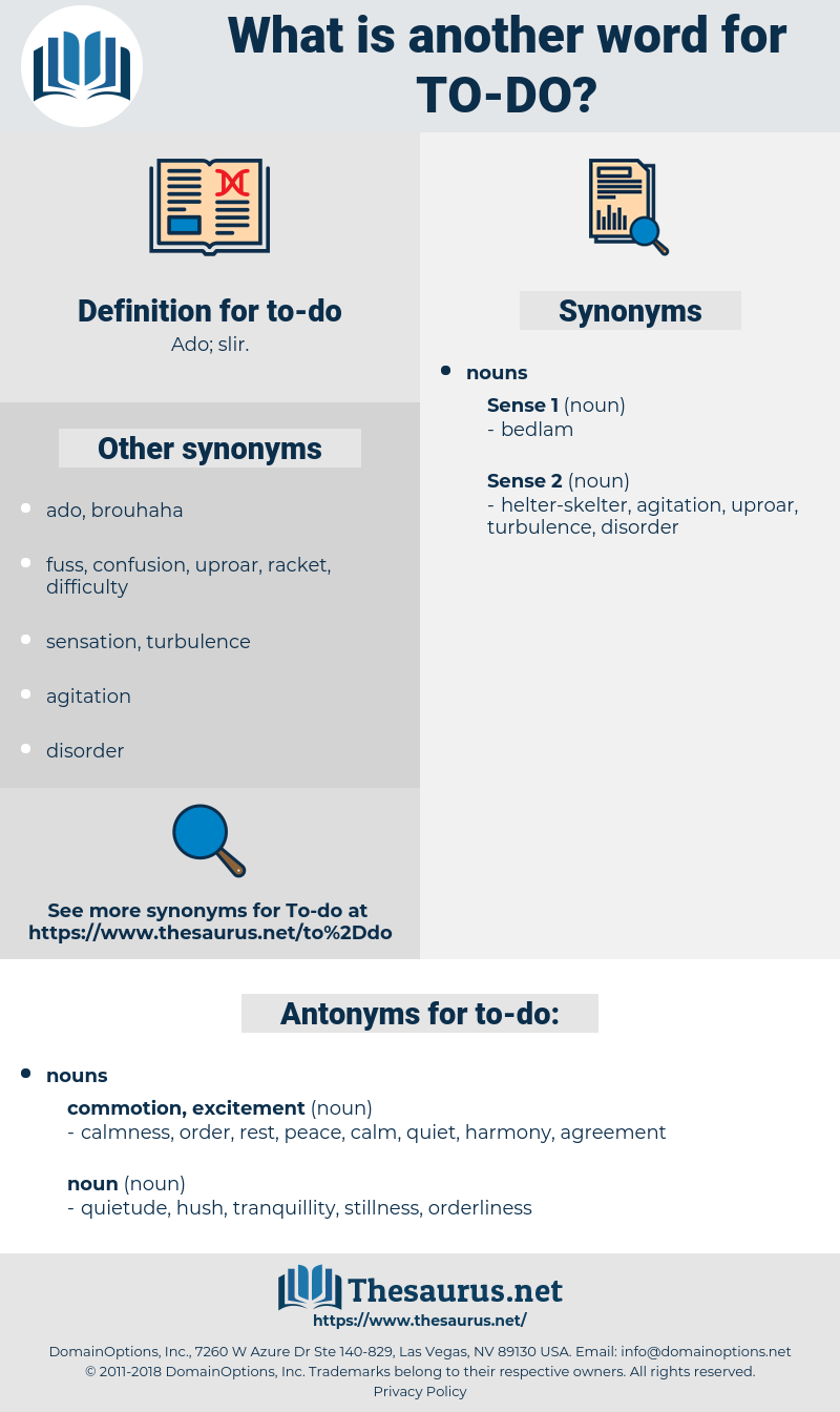 to-do, synonym to-do, another word for to-do, words like to-do, thesaurus to-do