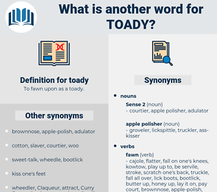 toady, synonym toady, another word for toady, words like toady, thesaurus toady