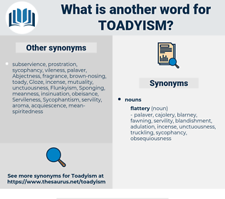 Toadyism, synonym Toadyism, another word for Toadyism, words like Toadyism, thesaurus Toadyism