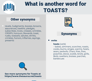 toasts, synonym toasts, another word for toasts, words like toasts, thesaurus toasts