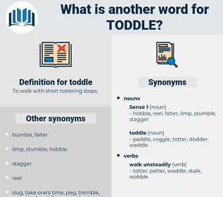 toddle, synonym toddle, another word for toddle, words like toddle, thesaurus toddle