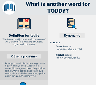 toddy, synonym toddy, another word for toddy, words like toddy, thesaurus toddy