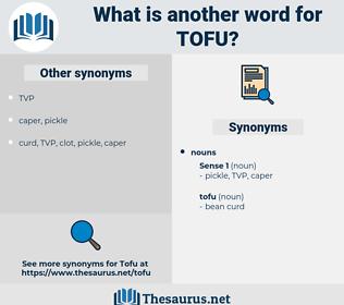 tofu, synonym tofu, another word for tofu, words like tofu, thesaurus tofu