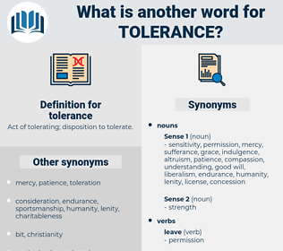 tolerance, synonym tolerance, another word for tolerance, words like tolerance, thesaurus tolerance