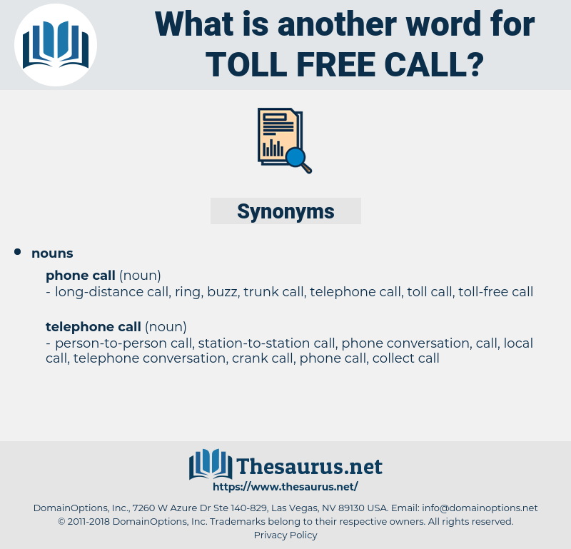 toll-free call, synonym toll-free call, another word for toll-free call, words like toll-free call, thesaurus toll-free call