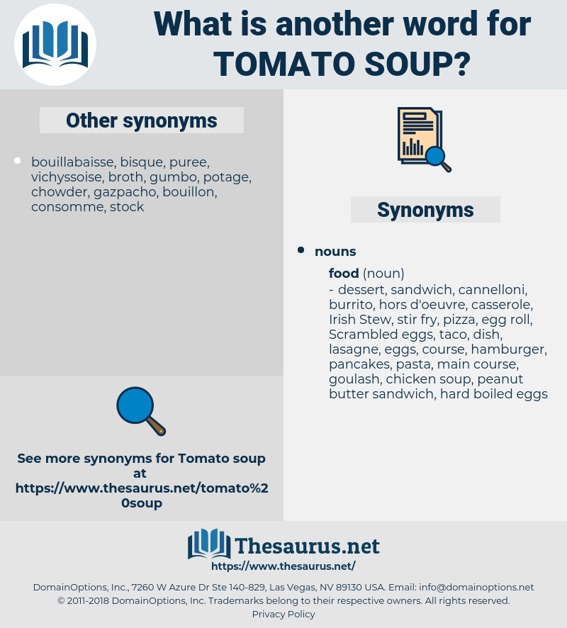 tomato soup, synonym tomato soup, another word for tomato soup, words like tomato soup, thesaurus tomato soup