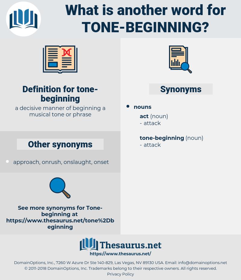tone-beginning, synonym tone-beginning, another word for tone-beginning, words like tone-beginning, thesaurus tone-beginning