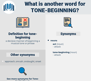 tone-beginning, synonym tone-beginning, another word for tone-beginning, words like tone-beginning, thesaurus tone-beginning