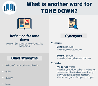 tone down, synonym tone down, another word for tone down, words like tone down, thesaurus tone down