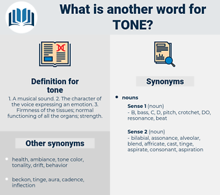tone, synonym tone, another word for tone, words like tone, thesaurus tone