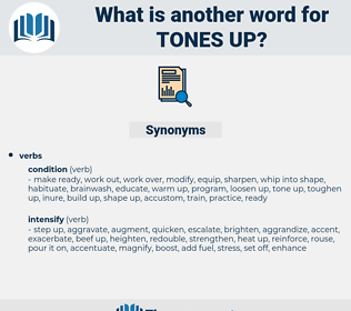 tones up, synonym tones up, another word for tones up, words like tones up, thesaurus tones up