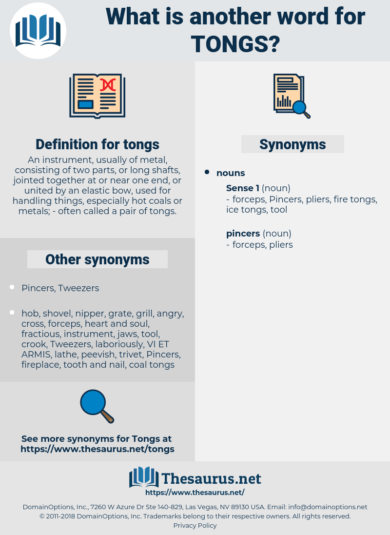 tongs, synonym tongs, another word for tongs, words like tongs, thesaurus tongs