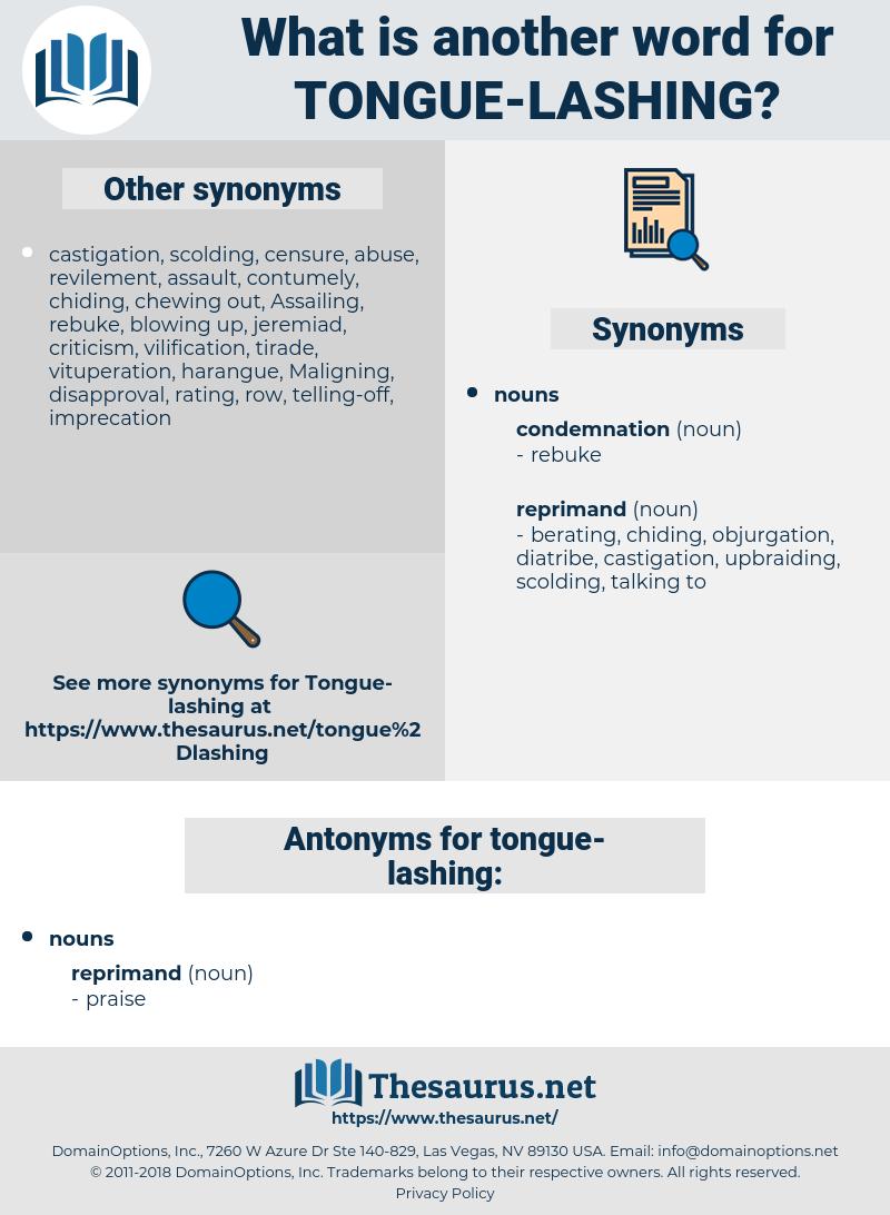tongue lashing, synonym tongue lashing, another word for tongue lashing, words like tongue lashing, thesaurus tongue lashing