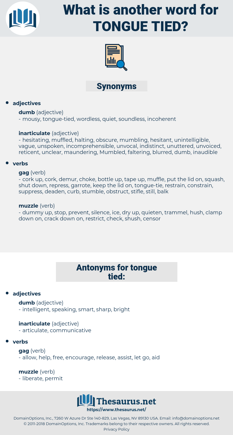 tongue-tied, synonym tongue-tied, another word for tongue-tied, words like tongue-tied, thesaurus tongue-tied